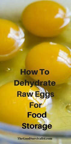 Dehydrating eggs is something that many people are not aware that they can do. By dehydrating your eggs you're stocking up the old pantry, and preparing for a disaster.. Click the link now so you can learn how to do it. http://www.thegoodsurvivalist.com/how-to-dehydrate-raw-eggs-great-for-preparedness-and-food-storage/