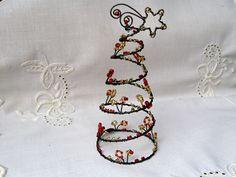 Červenozlatý stromeček Netradiční stromeček z černého drátu , červených a zlatých skleněných korálků a perliček, tvoří zajímavou dekoraci , kterou můžete umístit kam se Vám zlíbí. Svátečně doladí Vaši vánoční atmosféru. Výška stromečku je cca13 cm, dolní průměr je 6,5 cm.