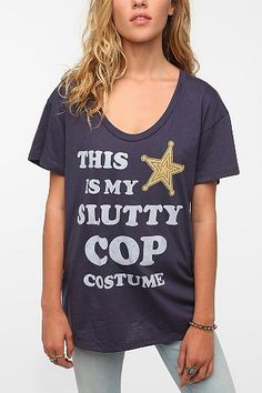 Haha already got my actual sexy cop costume but maybe I'll decide to be lazy this year and go with this. Corner Shop Cop Costume Tee