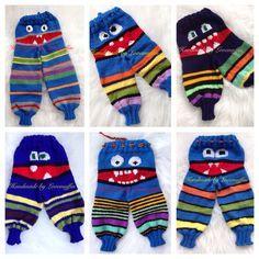 Kids Knitting Patterns, Knitting For Kids, Crochet For Kids, Baby Patterns, Crochet Baby Pants, Knit Crochet, Baby Lovies, Knit World, Cute Monsters