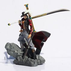 15CM Anime One Piece Dracule Mihawk PVC Action Figure