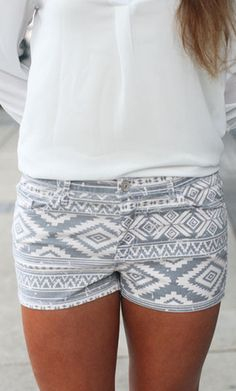 Penny | Ally B $34.00  These adorable printed shorts are perfect for a hot summer! Pair them with a casual tee or dress up with wedges and a shirt!