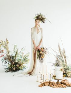 Ethereal Fall Inspiration // wild textured florals