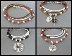 CRÉER votre Bracelet cuir Boho Wrap Bracelet - cordon en cuir et Tube de perles Triple Wrap bracelet - ajouter un charme - par Renee et Alex USA 1198 par TheBangleDivas sur Etsy https://www.etsy.com/ca-fr/listing/240948549/creer-votre-bracelet-cuir-boho-wrap