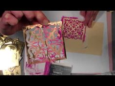 use caulk and acrylic paint to create your own modeling paste for brass stencils texturing