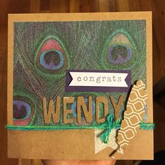 Homemade card for my friends'a graduation party!