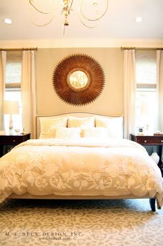 Beautiful bedroom in my favorite pallet for bedrooms creams, warm grays, gold. Live Beautifully: Elegant In Austin Dream Bedroom, Home Bedroom, Bedroom Decor, Bedroom Ideas, Bedroom Inspiration, Bed Ideas, Master Bedrooms, Master Bathroom, Bedroom Furniture