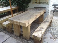 sleeper tables and benches, £295.00