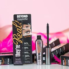 Layer on the lashes! Toss your falsies & pump up the realsies with they're real! mascara for a sexy evening look—you'll have everyone asking if they're real