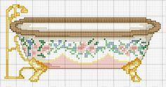 bathtub -- free cross stitch pattern