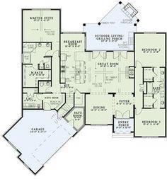 Split Bedroom Home Plan With Angled Garage - 60617ND | European, 1st Floor Master Suite, Bonus Room, Butler Walk-in Pantry, CAD Available, PDF, Split Bedrooms | Architectural Designs