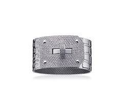 """Hermes Kelly GM bracelet in white gold with diamond 