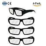 #10: Double Couple 4-Pack Black Plastic Solar Eclipse Safety Glasses GogglesCE & ISO Certified;Safe Eclipses Viewing Shades Block Sun Ultraviolet UV Lights