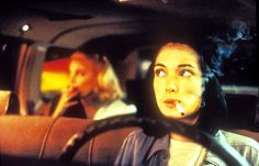 """""""Winona as a bubblegum-blowing, tough-talking, chain-smoking cabbie in Night on Earth, driving Gena Rowlands around in L.A., cigarette tucked behind her ear, baseball cap worn backward."""""""