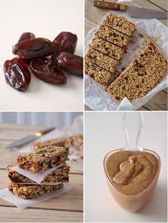 Barras de cereais com banana, amêndoa e chocolate // Banana almond chocolate granola bars
