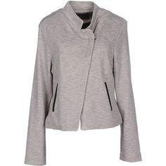 Vero Moda Blazer (115 BRL) ❤ liked on Polyvore featuring outerwear, jackets, blazers, light grey, lapel jacket, light grey blazer, collar jacket, single breasted jacket and blazer jacket