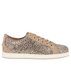 126d9f2a Jimmy Choo Cash / F Sneakers In Suede Leather And Glitter from Italist on  International Stores