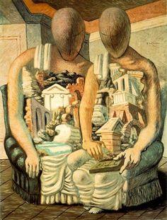 Giorgio De Chirico - The Archeologists