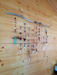 A reggio inspired creation for our classroom o hang up notes, drawings, paintings, photos etc.. Lots of beads, pegs and drift wood!