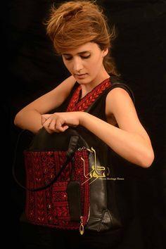 حقيبة ومحفظة تطريز فلسطيني bag cross stitch