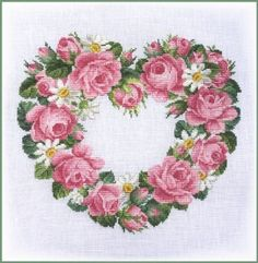 Heart of Roses and Daisies da Ellen Maurer-Stroh - Schemi Punto Croce - Ricamo - Casa Cenina