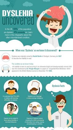 In the UK 10% of the population are dyslexic and 4% severely so. Learn more, with facts about #dyslexia displayed in this #infographic about an often misunderstood condition