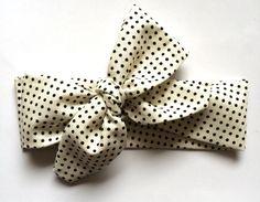 Polka Dot Headwrap by SewFreshh on Etsy https://www.etsy.com/listing/222000390/polka-dot-headwrap