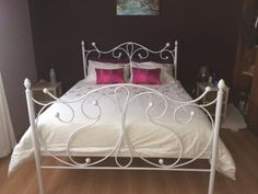 wrought iron bed, steel bed, metal bed Cape Town South Africa image gallery Maria