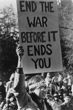 Hippie Protesting the Vietnam War