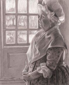 """Emily Christoff's Daily Paints: """"Martha at Powhatan""""  8 x 10"""" figure, charcoal, $1..."""