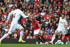 Ashley Young of Manchester United in action