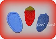 Haribo Giant Strawberry Silicone Flexible Moulds Mold Resin Sculpey Cake Making