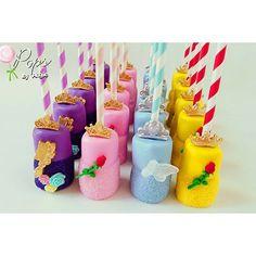 Disney princesses chocolate covered marshmallows #rapunzel #aurora #Cinderella #belle #disney #disneyprincess #marshmallows #chocolatecoveredmarshmallows #miami #miamisweets #opopsbyangie