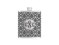 Check out this item in my Etsy shop https://www.etsy.com/listing/226996287/personalized-flask-name-monogram-on