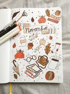 December Bullet Journal, Bullet Journal Cover Ideas, Bullet Journal Notebook, Bullet Journal School, Bullet Journal Themes, Journal Covers, Bullet Journal Inspiration, Journal Ideas, Autumn Bullet Journal