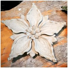 One of Sarah's wall flowers fully assembled and dr. Raku Pottery, Pottery Sculpture, Slab Pottery, Sculpture Clay, Pottery Art, Pottery Ideas, Ceramic Flowers, Clay Flowers, Dr Flowers