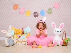 24 Ideas For Birthday Photography Props Mini Sessions Photography Props Kids, Birthday Photography, Toddler Pictures, Easter Pictures, Easter Backdrops, Foto Baby, Mini Sessions, Easter Crafts, Baby Photos