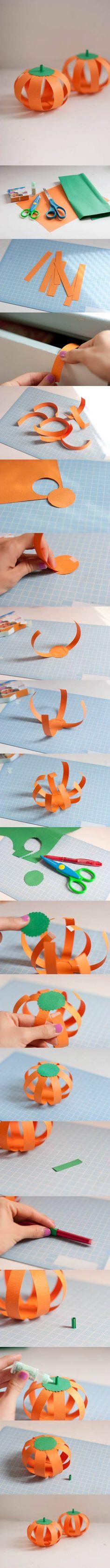 DIY Paper Halloween Pumpkin DIY Projects