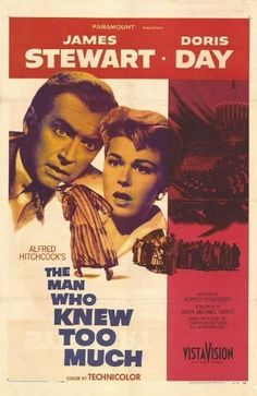 """The Man Who Knew Too Much"" (1956). A family vacationing in Morocco accidentally stumble on to an assassination plot and the conspirators are determined to prevent them from interfering. A masterpiece by Hitchcock, one of my favorite directors."