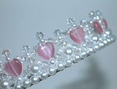 Pretty Pink Heart Princess Tiara Crystal Tiara от CreativeCalling1