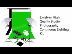Excelvan High Quality Studio Photography Continuous Lighting Kit Review - YouTube