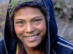 Green-eyed girl from Nepal