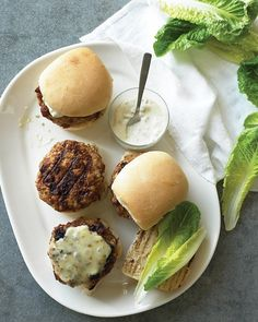Emeril's Pork-and-Chorizo Burgers with Green-Chile Mayo - Martha Stewart Recipes