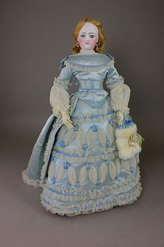 """20"""" FG GAULTIER FRENCH FASHION LADY - by McMasters Harris Appletree Doll Auctions"""