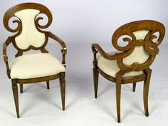 Six William Doezema Biedermeier Dining Chairs For Mastercraft | From a unique collection of antique and modern dining room chairs at http://www.1stdibs.com/furniture/seating/dining-room-chairs/