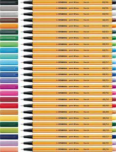 Stiften stabilo 88