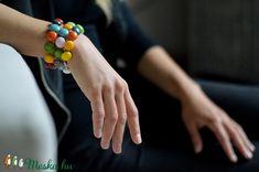 PÖTTY karkötő SZÍNES (Edian) - Meska.hu Fused Glass Jewelry