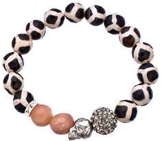 Very Me Zebra Skull Bracelet - Polyvore