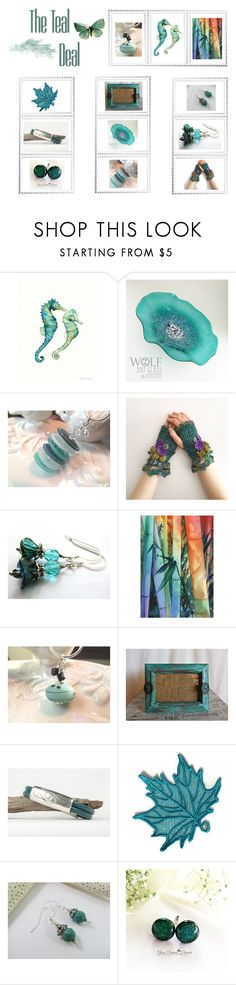 """""""Teal gifts"""" by keepsakedesignbycmm ❤ liked on Polyvore featuring jewelry, accessories and decor"""