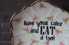 Vintage Upcycled Decorative Plate Have your by bostoninachinashop